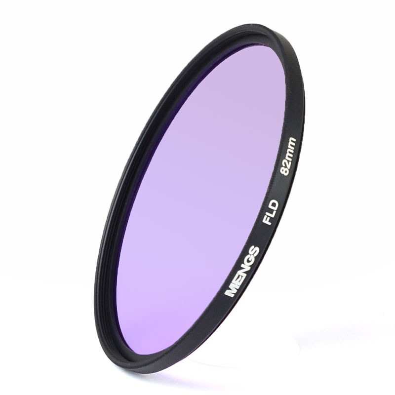 MENGS® 82mm FLD Fluorescent Filter with aluminum frame for Canon / Sony / Nikon / Fuji / Pentax / Olympus etc Digital Camera and DLSR Camera