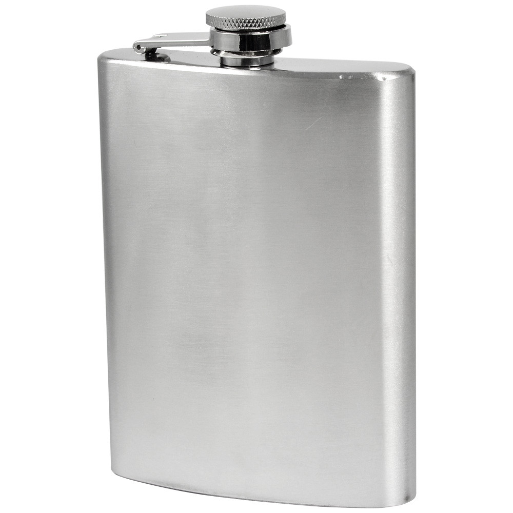 MENGS® 8oz Hip Flask With Stainless Steel Ideal For Liquor / Whisky / Vodka Or Alcohol - Perfect Gift
