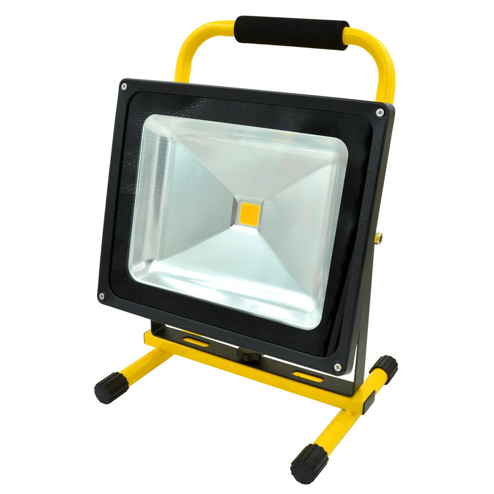 50w rechargeable led flood light 900lm ac 100 240v warm for Focos led exterior 50w
