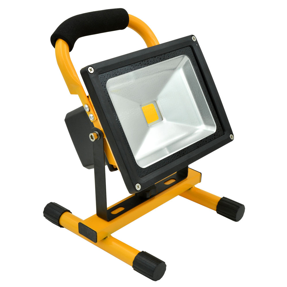 Led Flood Light Rechargeable 20w: 20W Rechargeable LED Flood Light (700lm, AC 100-240V, Cool