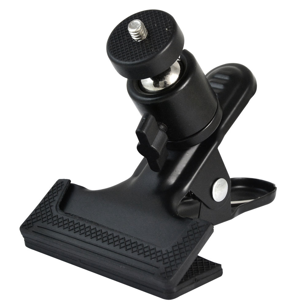 """MENGS® Clip Clamp Grip 1/4"""" Adapter Screw with 360° Rotating Ball Head for Camera Tripod Flash Bracket"""