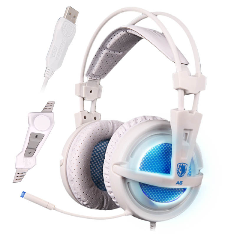 SADES® A6 7.1CH surround sound Headband Gaming Headset USB Wired Headphone with Microphone for PC Laptop
