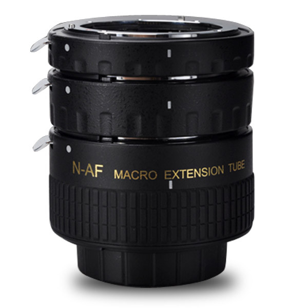 APUTURE® AC-MN macro extension tube/ring set (12mm / 20mm / 36mm) for Nikon AI lens mount