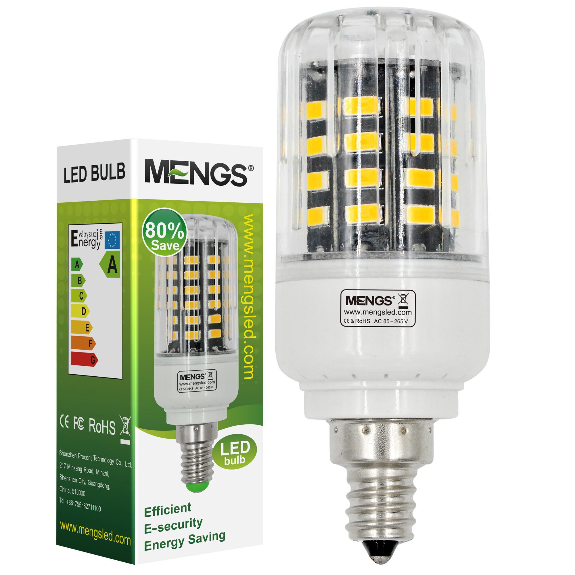 MENGS® Anti-Strobe E12 5W LED Corn Light 40x 5736 SMD LED Bulb Lamp In Warm White Energy-Saving Lamp