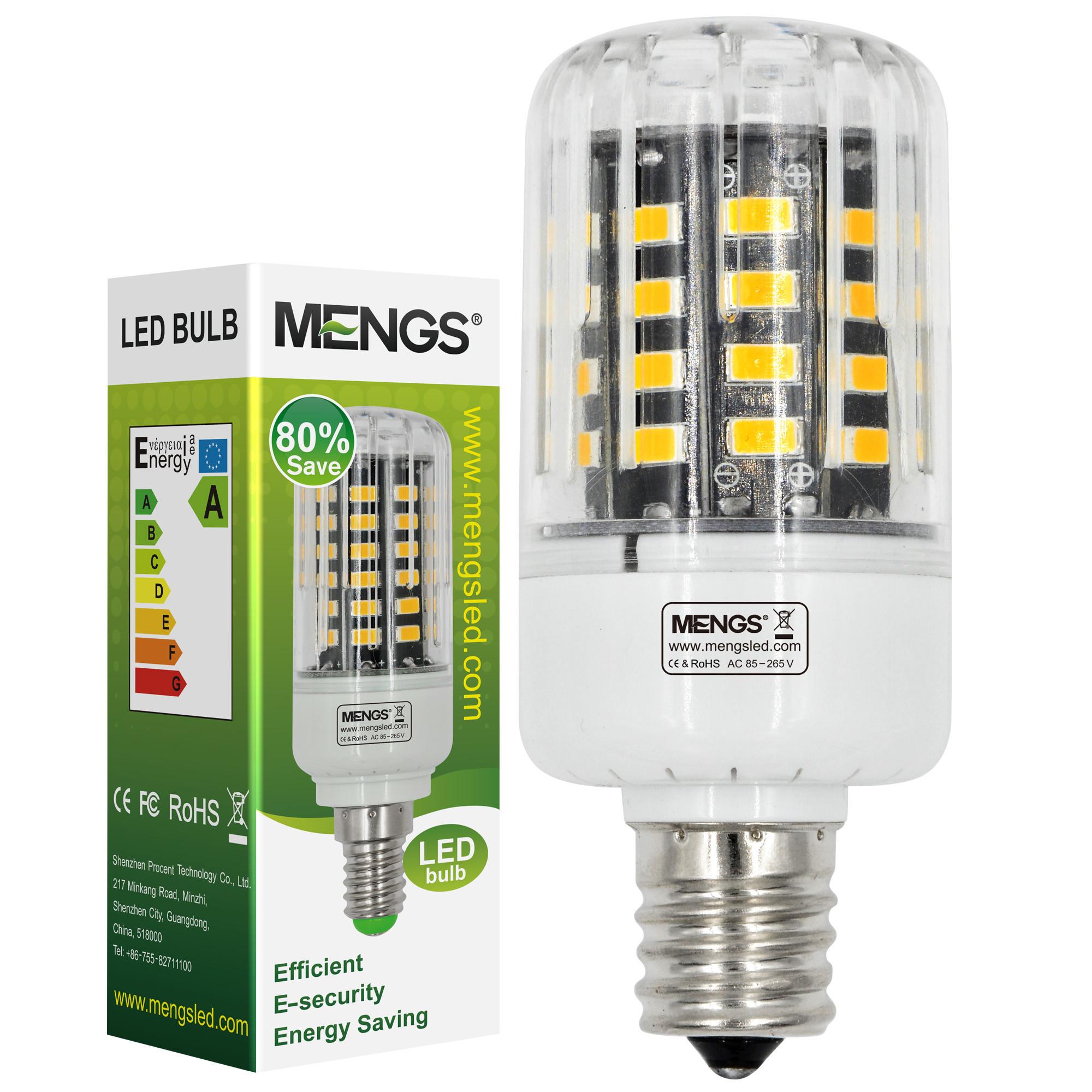 MENGS® Anti-Strobe E17 5W LED Corn Light 40x 5736 SMD LED Bulb Lamp In Cool White Energy-Saving Lamp