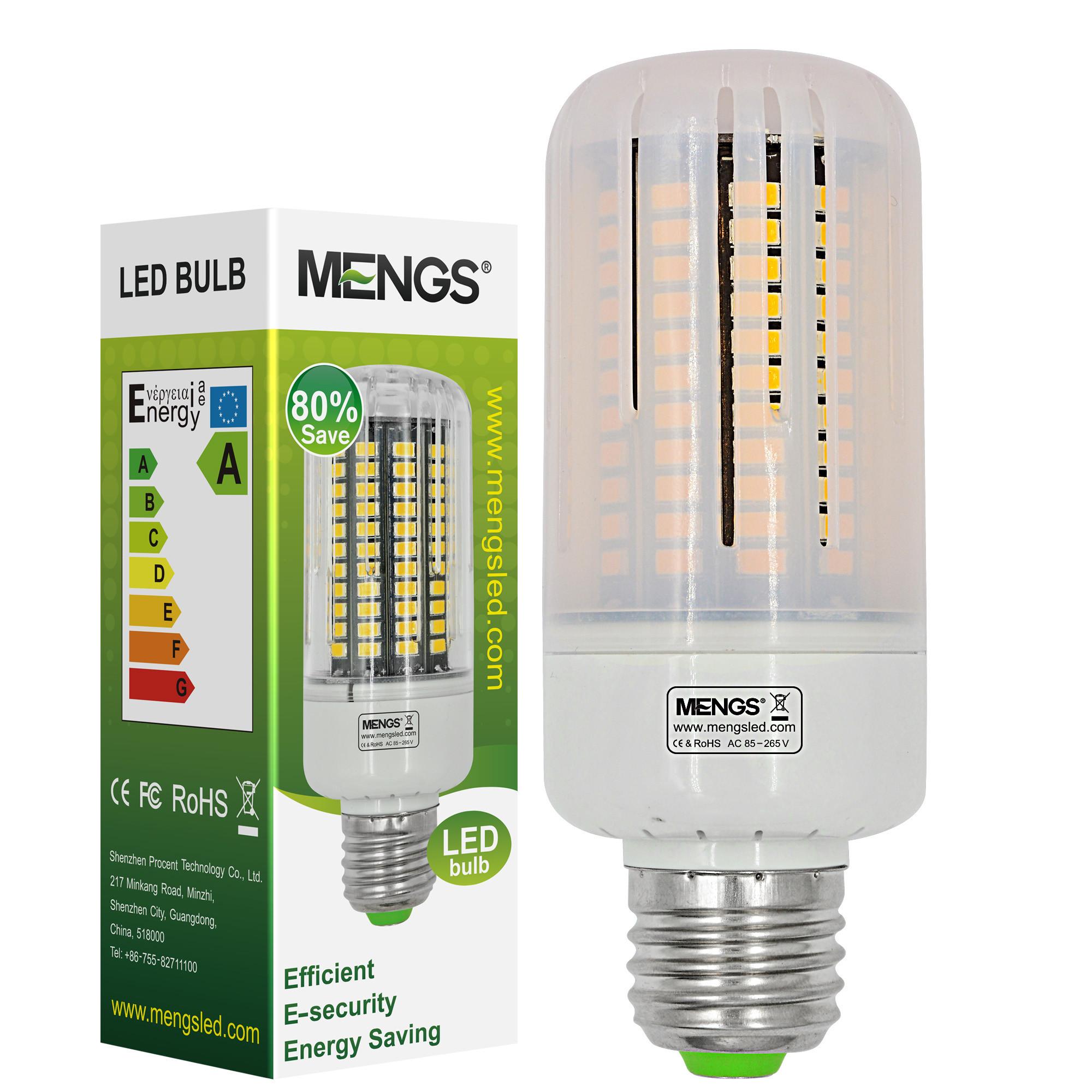 MENGS® Anti-Strobe E27 18W LED Corn Light 130x 5736 SMD LB LED Bulb Lamp In Warm White Energy-Saving Lamp