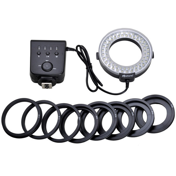 APUTURE® AHL-C60 LED Macro Ring Flash Light For Canon DSLR Cameras