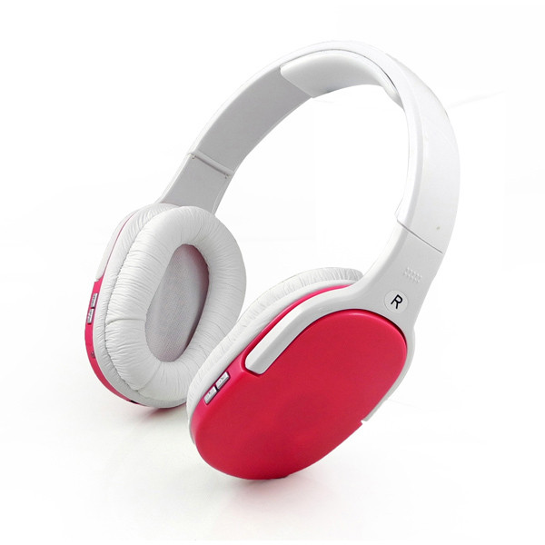 MENGS® BT-911 Bluetooth Wireless Headset Stereo Headband music Headphone with Microphone Handsfree Red