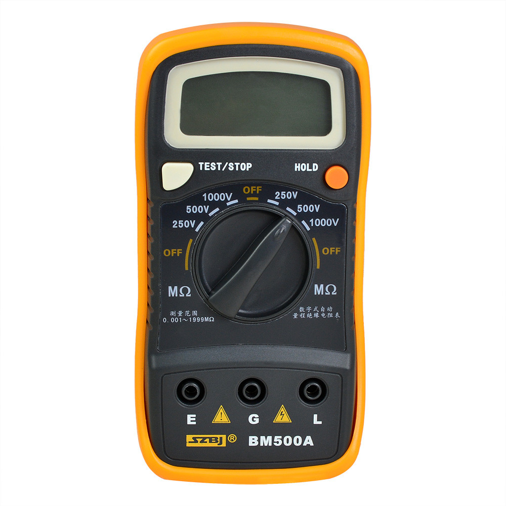 MENGS® BM500A Digital Insulation Resistance Megger 1000V 1999M Tester Meter Megohmmeter Tool with data hold and low battery warning function
