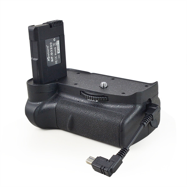 APUTURE® BP-D3200 battery grip with Cable for Nikon D3100, D3200 which can hold one EN-EL14 rechargeable battery ( not included )