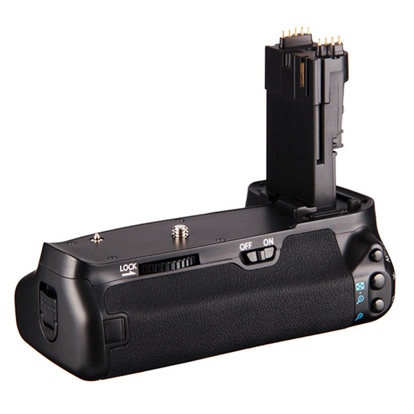 APUTURE® BP-E9 battery grip for Canon EOS 60D which can hold 2 LP-E6 rechargeable batteries or 6 AA batteries ( not included )