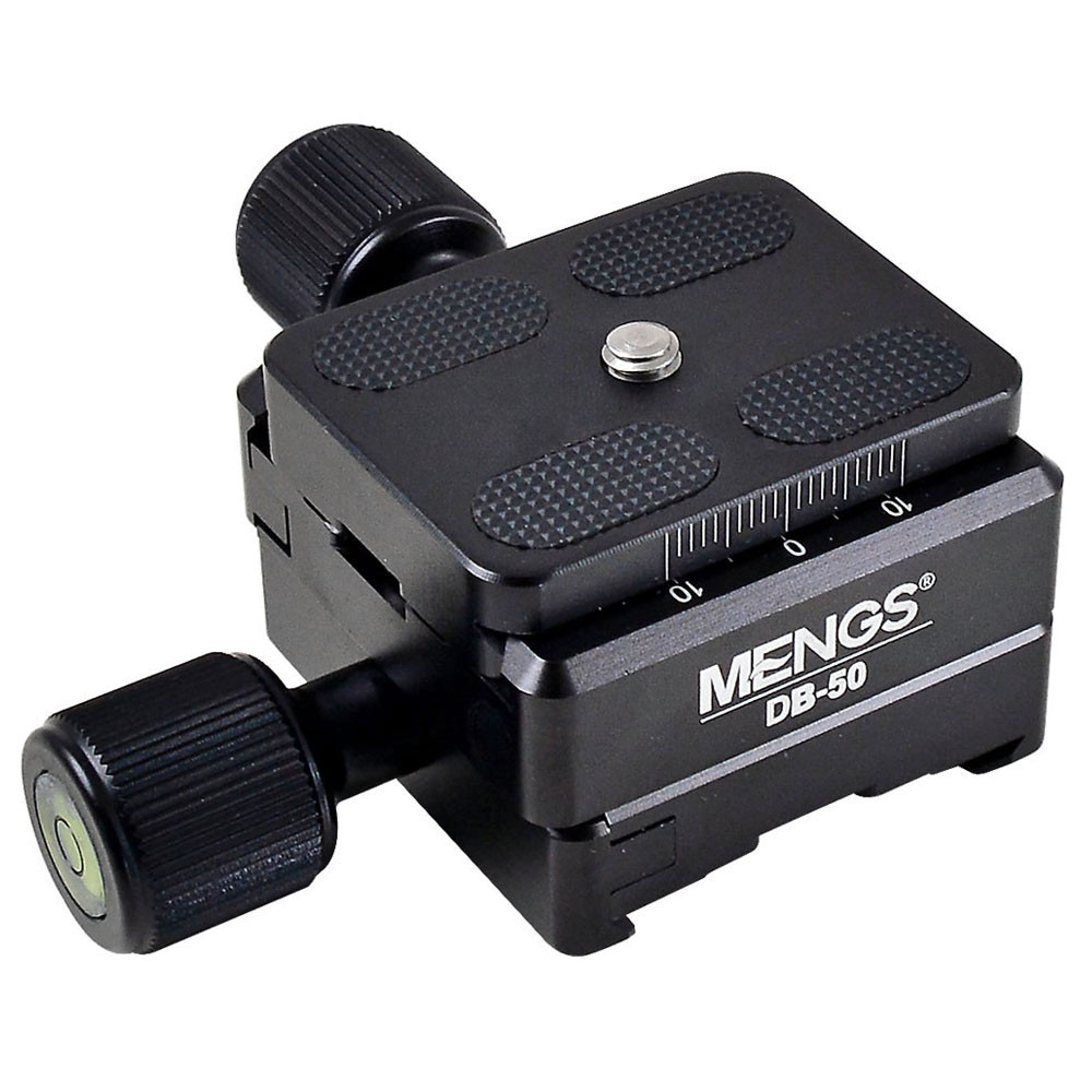 MENGS®  DB-50  All-metal Universal Quick Release Plate + Quick Release Clamp Compatible with RRS ARCA-SWISS  KIRK Wimberley  MARKINS