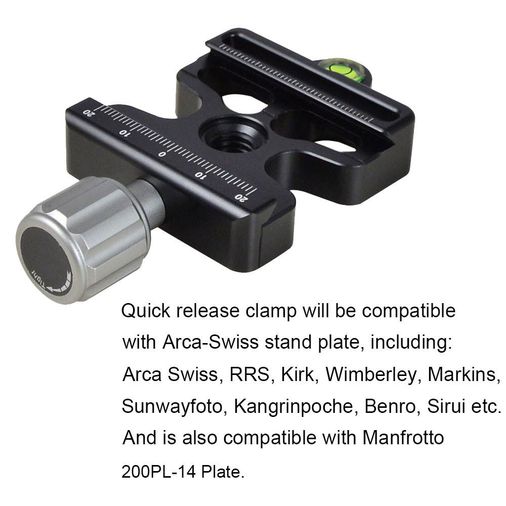 Dc camera quick release clamp inch screw