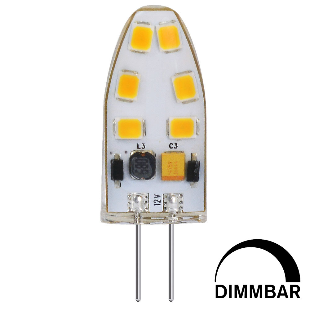 MENGS® G4 3W LED Dimmable Light With Silicone Material 12x 2835 SMD LED Bulb Lamp In Cool White Energy-Saving Light