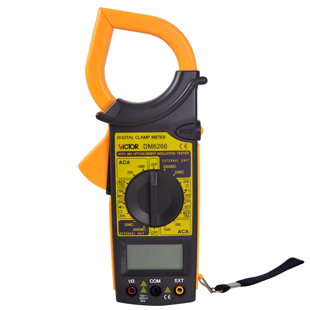 MENGS® DM6266 Digital Clamp Meter With Data Hold And Continuity Buzzer Function Which Can Measure AC / DC Voltage / Resistance Measuring Tool