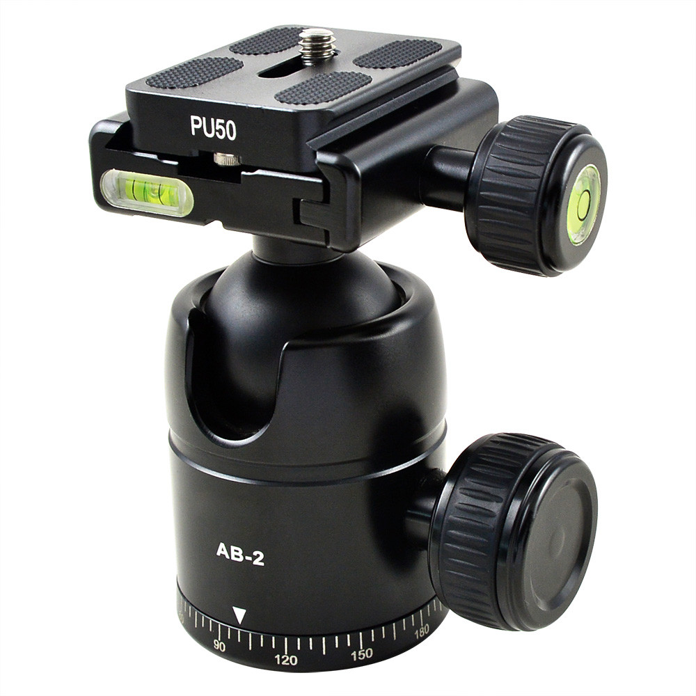 MENGS® AB-2 360 Degree Rotate Camera Ball Head with Quick Release Plate