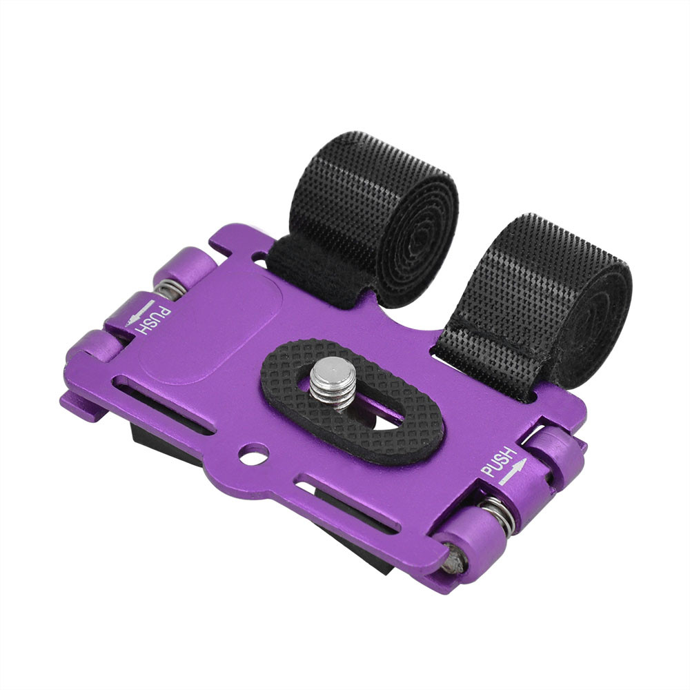MENGS® 1/4' Screw Metal Bicycle Holder Stand & Action Mount For DV / DC And Digital SLR Camera - Purple