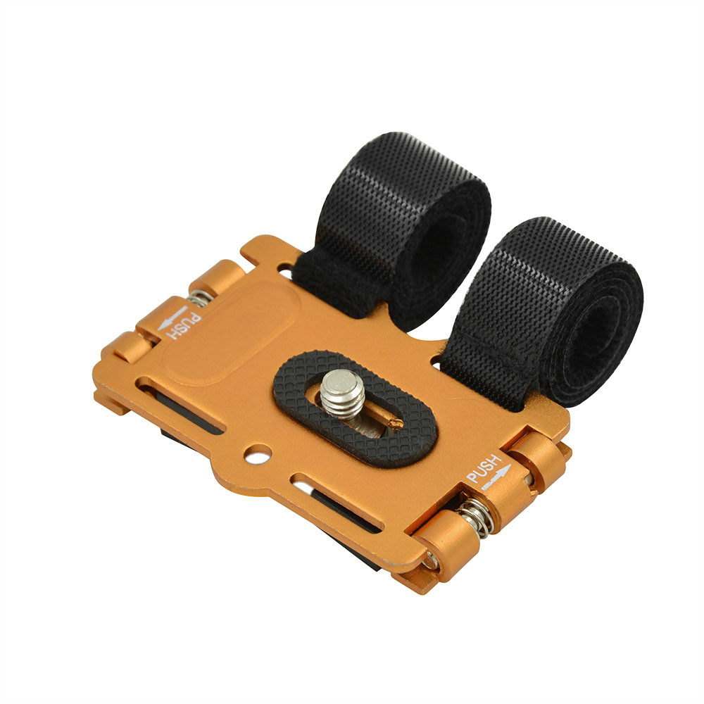 MENGS® 1/4'' Screw Metal Bicycle Holder Stand & Action Mount For DV / DC And Digital SLR Camera - Orange