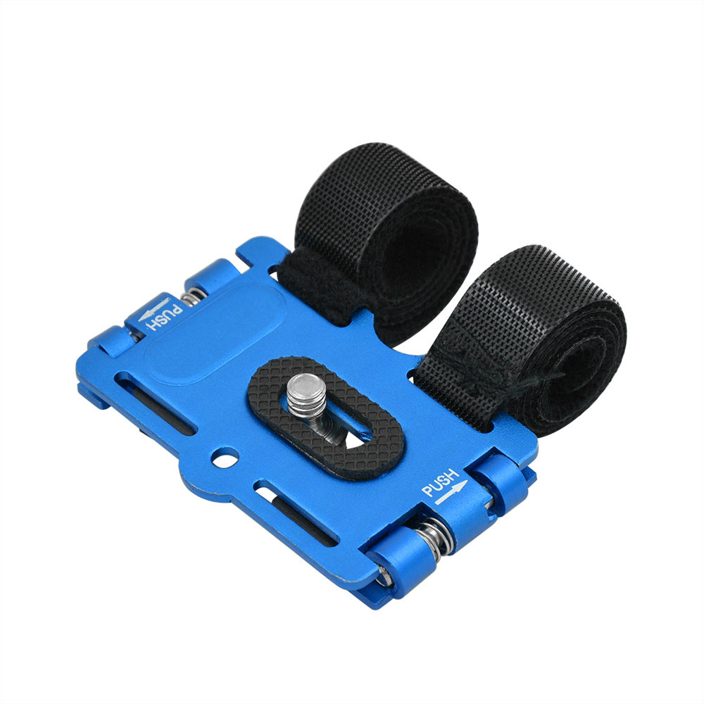 MENGS® 1/4' Screw Metal Bicycle Holder Stand & Action Mount For DV / DC And Digital SLR Camera - Blue