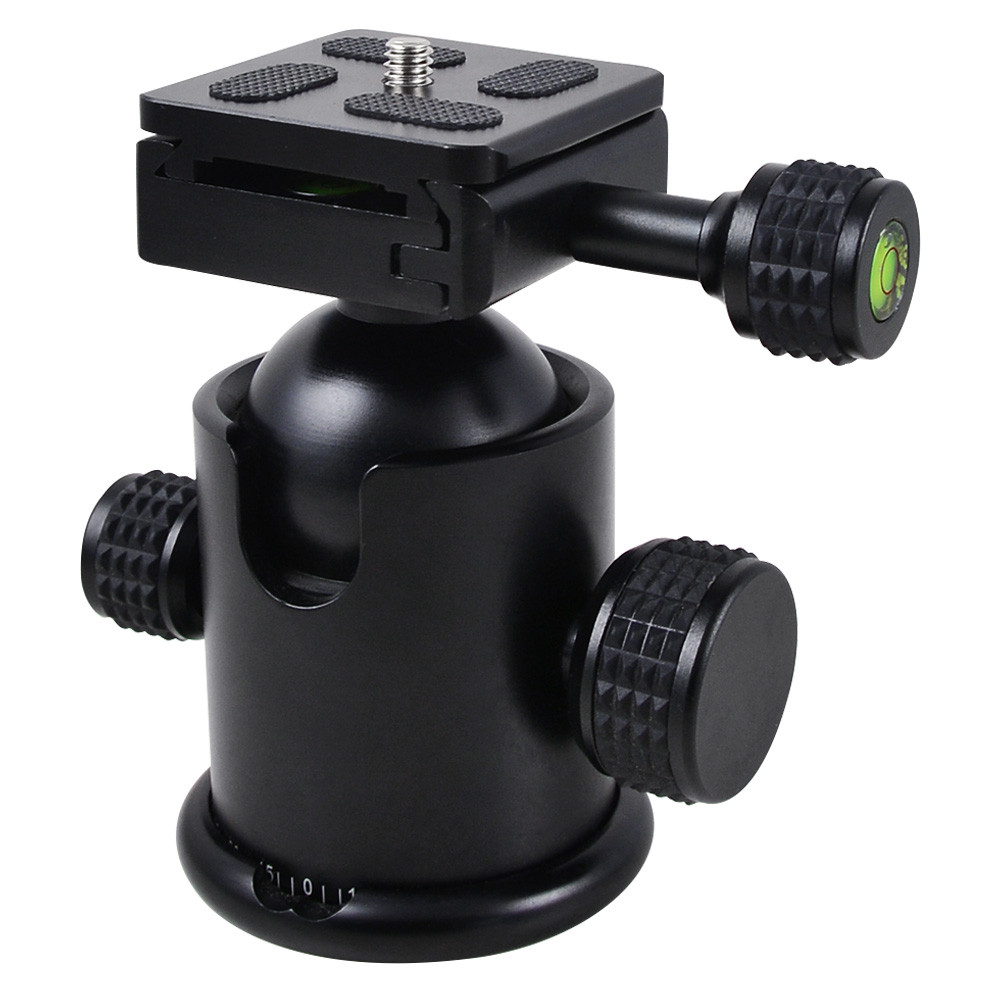 MENGS® MYT-C 360° Camera Ball Head With Quick Release Plate 1/4 inch Mounting Screw for Tripod DSLR Camera