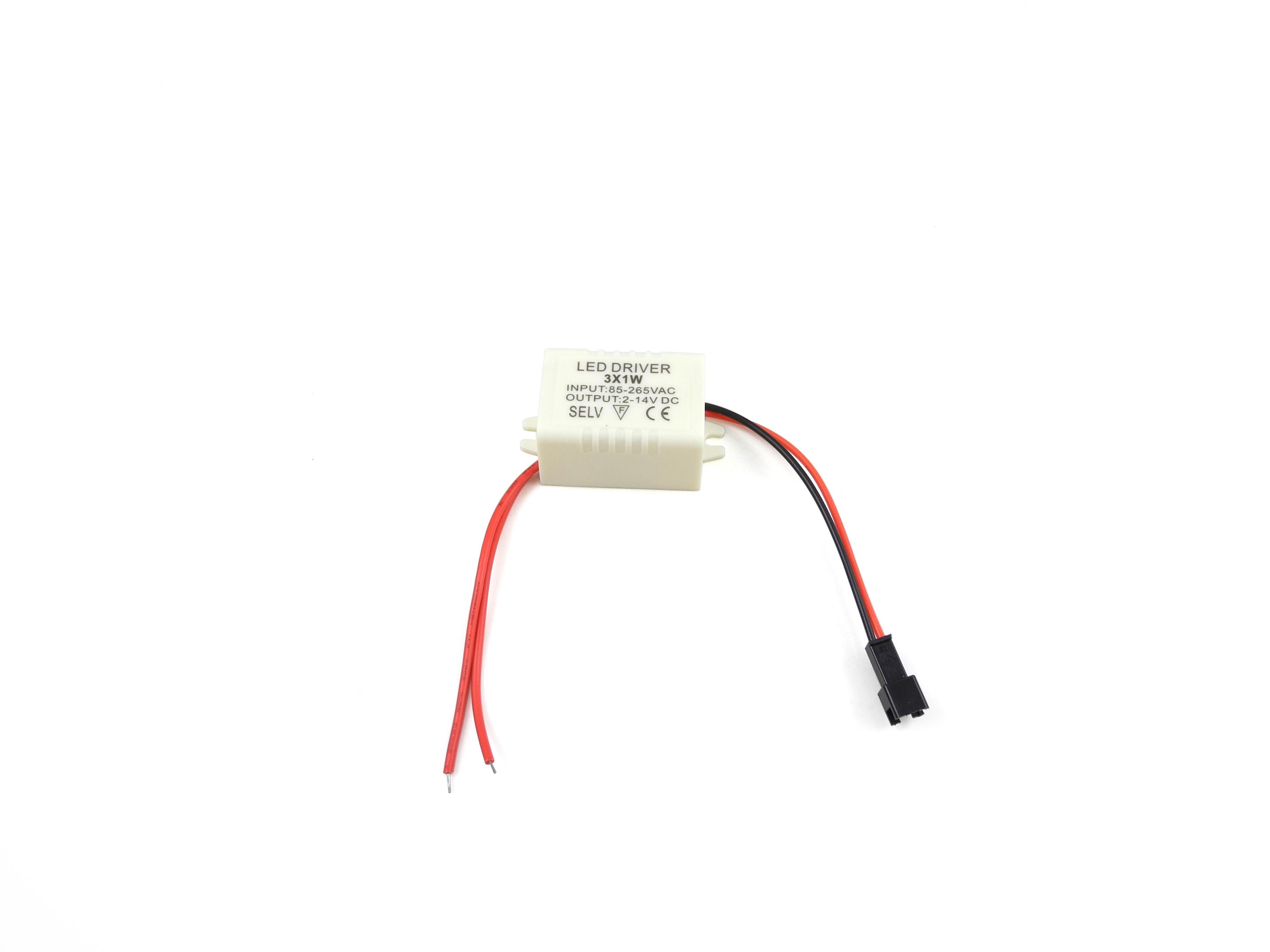 3 X 1w Led Driver Power Supply Transformer Ac 85 265v Dc 2 14v 512v 300ma Circuit 3w Buy 3wled Mengs Ld 001
