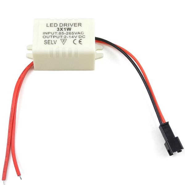 MENGS® LD-001 3 x 1W LED Driver Power Supply Transformer AC 85-265V-DC 2-14V