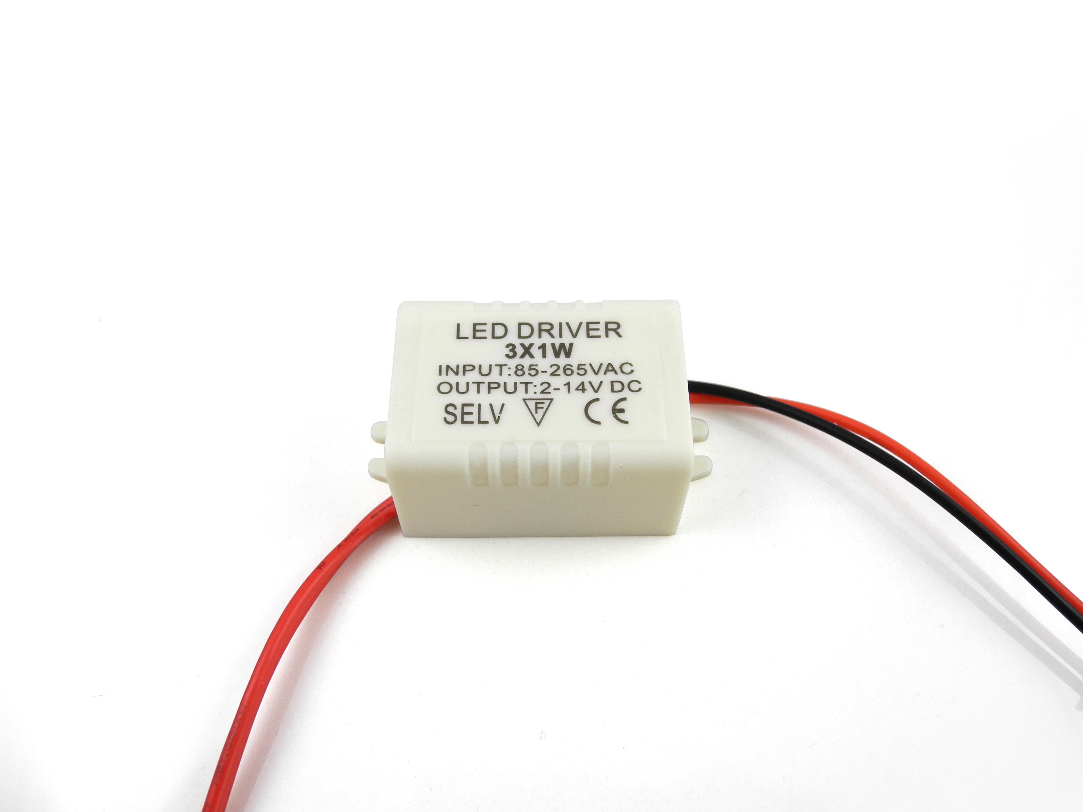 3 X 1w Led Driver Power Supply Transformer Ac 85 265v Dc 2 14v Light Circuit Lights Photography Accessories
