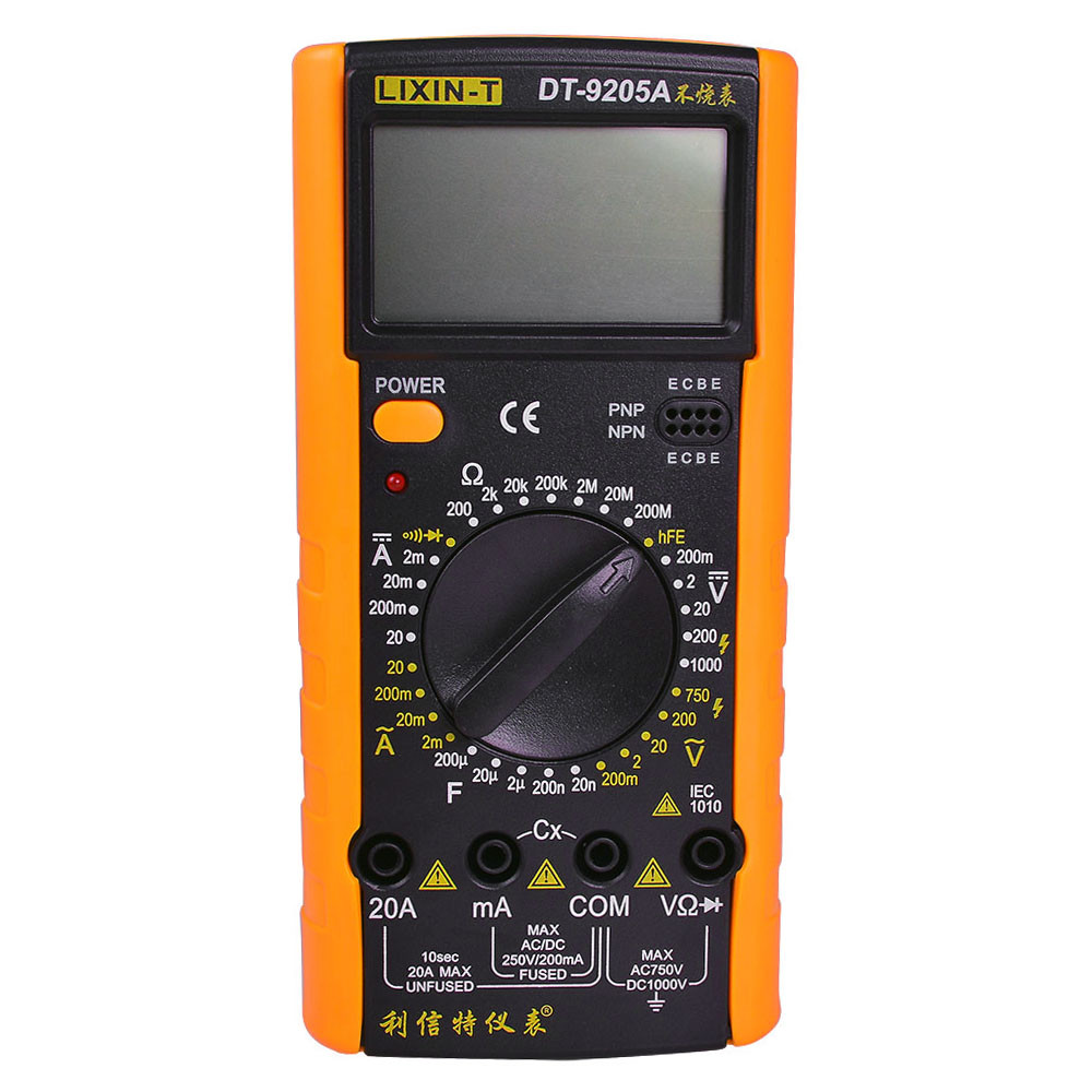 Dt 9205a Ac Dc Handhold Lcd Display Dmm Digital Multimeter