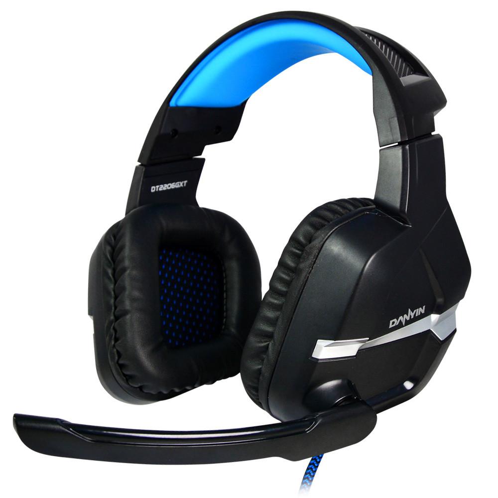 MENGS® DT22066 USB+3.5mm Plug Dazzle LED Light Gaming Headset Using 40mm Loudspeaker For Chat, Movie, Music Etc