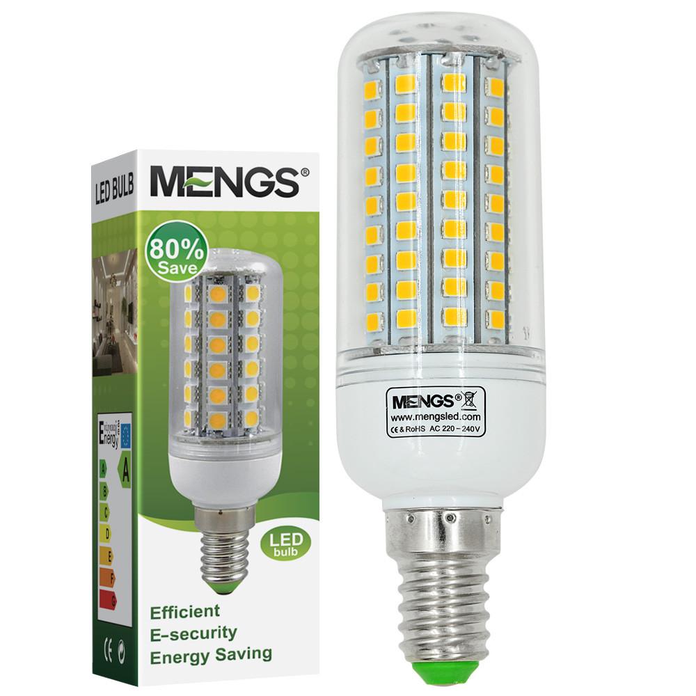 MENGS® E14 7W LED Corn Light 102x 2835 SMD LEDs LED Lamp Bulb In Warm White Energy-Saving Lamp