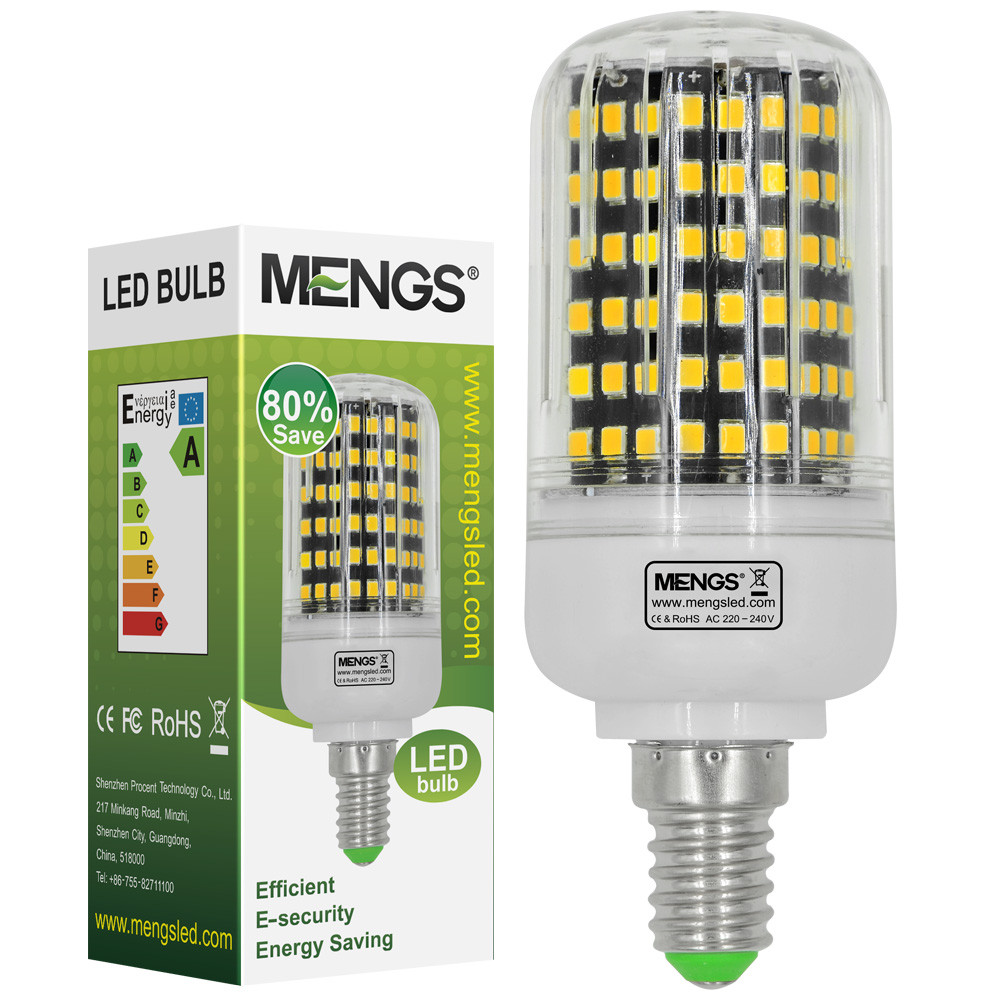 MENGS® E14 13W LED Corn Light 144x 2835 SMD LED Bulb Lamp With Aluminum Plate In Warm White Energy-Saving Light