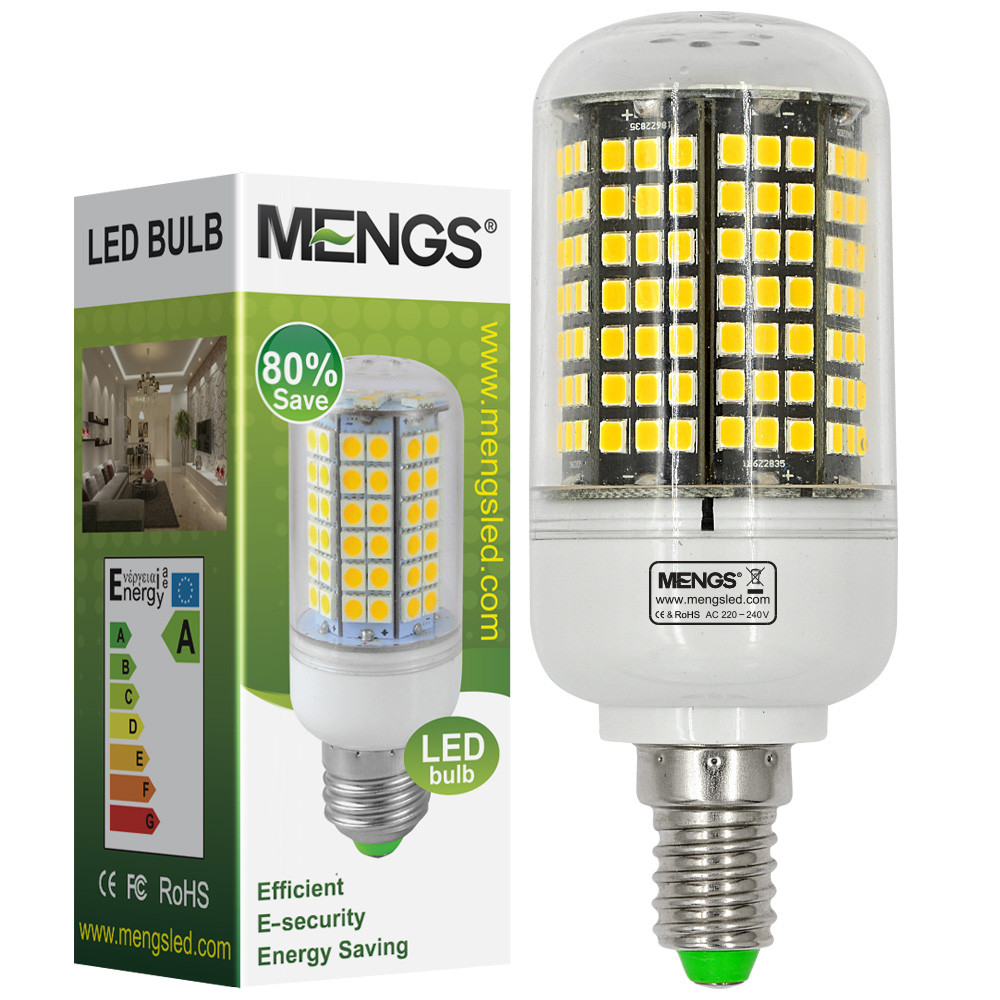 MENGS® E14 17W LED Corn Light 186x 2835 SMD LED Bulb Lamp in Warm White Energy-Saving Light