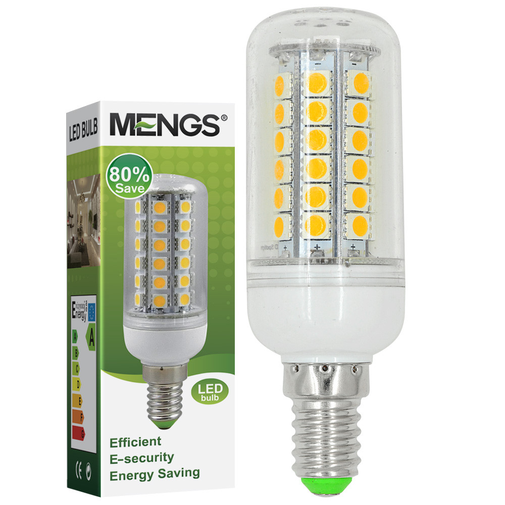 MENGS® E14 8W LED Corn Light 48x 5050 SMD LEDs LED Lamp Bulb AC 10-30V In Cool White Energy-Saving Lamp