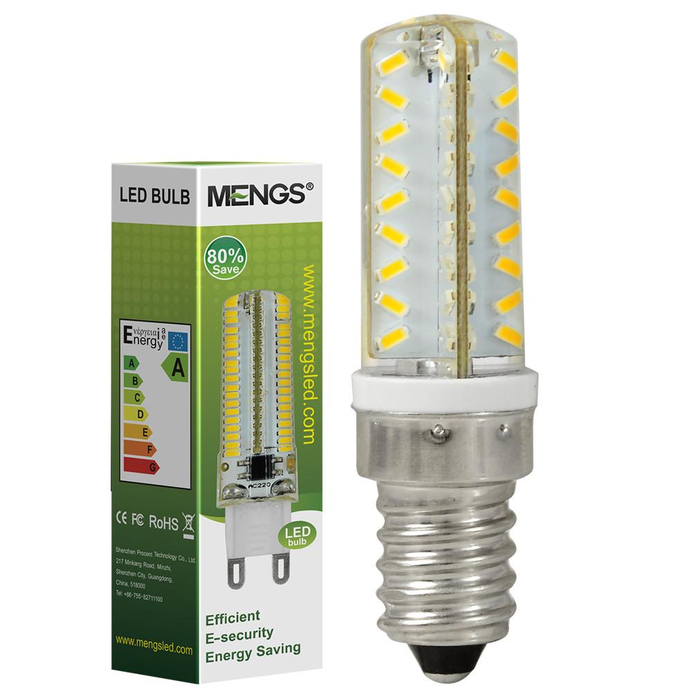 MENGS® E14 4W LED Dimmable Corn Light 72x 3014 SMD LEDs LED Lamp Bulb in Cool White Energy-Saving Light