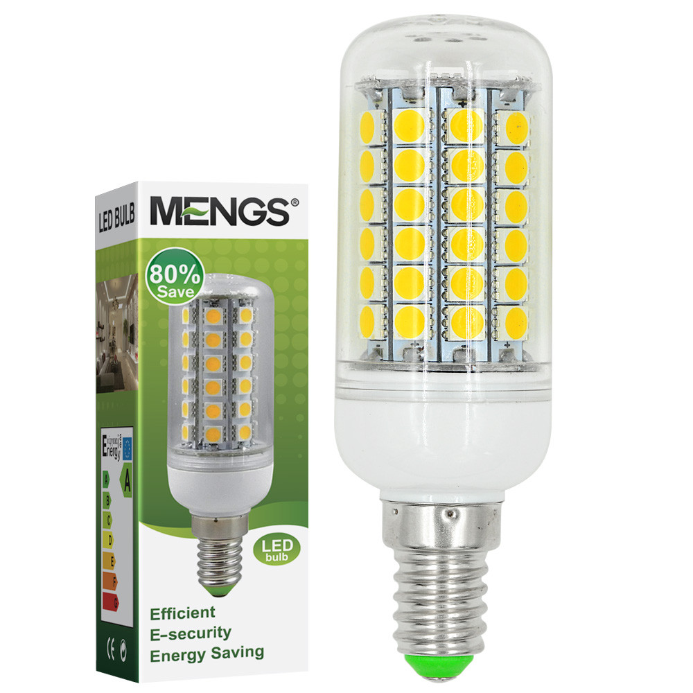 MENGS® E14 9W LED Corn Light 69x 5050 SMD LEDs LED Bulb In Warm White Energy-Saving Lamp