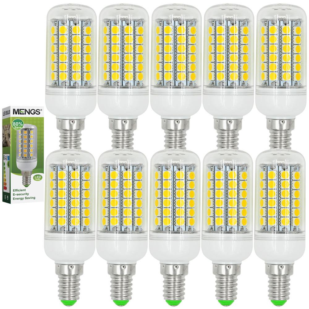 MENGS® 10Pcs E14 9W LED Corn Light 69x 5050 SMD LEDs LED Bulb In Warm White Energy-Saving Lamp