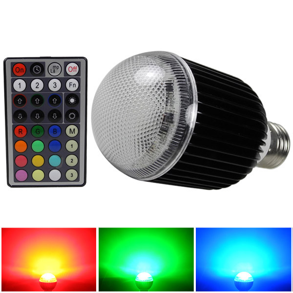 MENGS® E27 10W LED RGB Light 16 Colour changing SMD LEDs LED Globe lamp Bulb with IR Remote Control - multicolor Dimmable