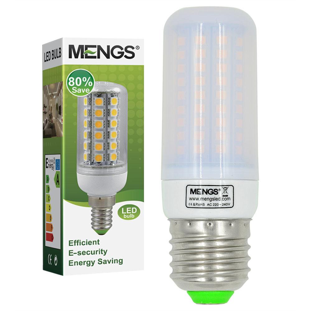 MENGS® E27 7W LED Corn Light 102x 2835 SMD LED Lamp Bulb in Warm White Energy-Saving Light