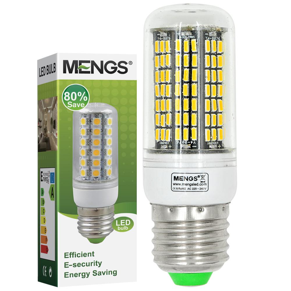 MENGS® E27 12W LED Corn Light 186x 4014 SMD LED Blub Lamp In Cool White Energy-Saving Light