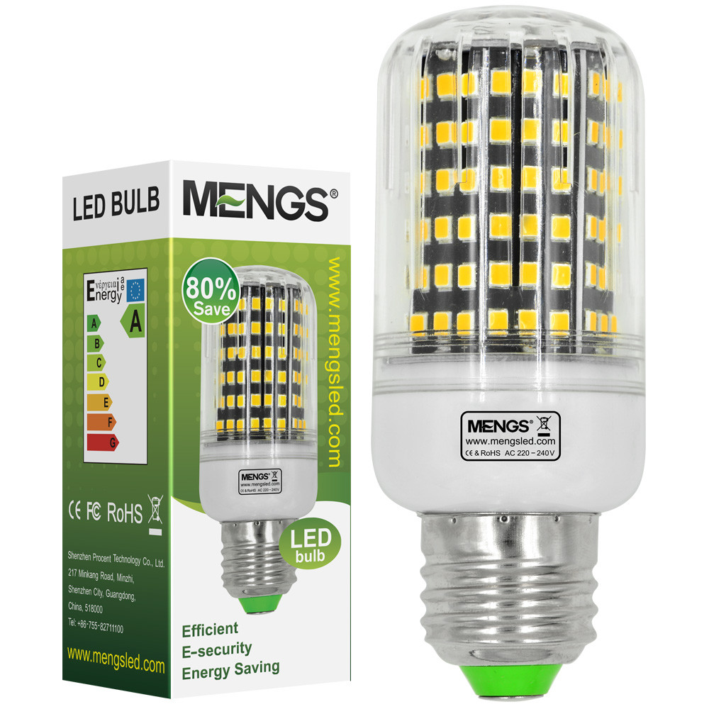 MENGS® E27 13W LED Corn Light 144x 2835 SMD LED Bulb Lamp With Aluminum Plate In Warm White Energy-Saving Light