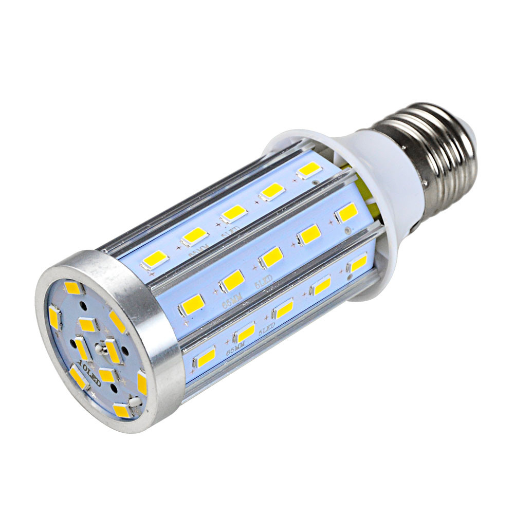 MENGS® E27 15W LED Corn Light 50x 5730 SMD LED Bulb Lamp With Aluminum Plate In Warm White Energy-Saving Lamp