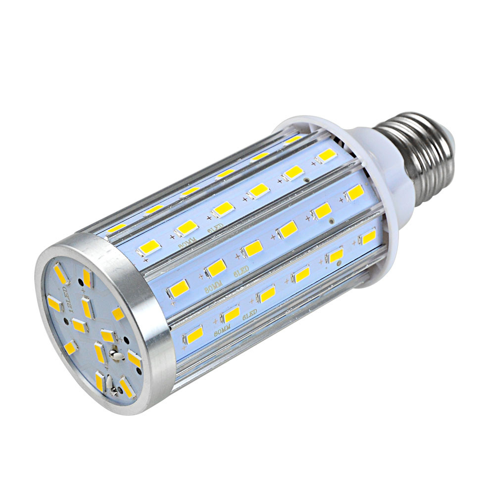 MENGS® E27 20W LED Dimmable Corn Light 72x 5730 SMD LED Bulb Lamp With Aluminum Plate In Cool White Energy-Saving lamp