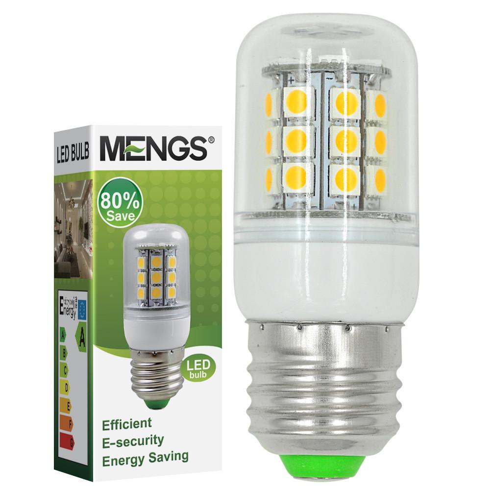 MENGS® E27 5W LED Corn Light 30x 5050 SMD LEDs LED Bulb AC 10-30V In Cool White Energy-Saving Lamp