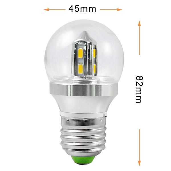 e27 4w led globe light 8x 5730 smd leds led lamp bulb ac 85 265v in. Black Bedroom Furniture Sets. Home Design Ideas