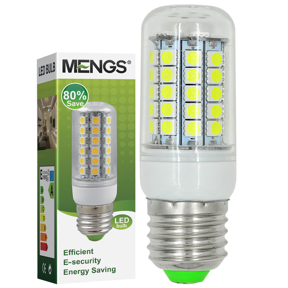 MENGS® E27 8W LED Corn Light 59x 5050 SMD LEDs LED Bulb AC 220-240V In Cool White Energy-Saving Lamp