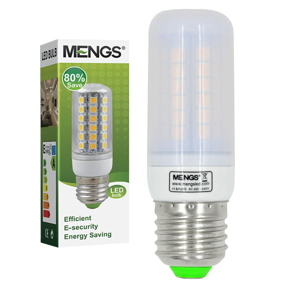 MENGS® E27 7W LED Corn Light 48x 5050 SMD LED Lamp Bulb in Warm White Energy-Saving Light