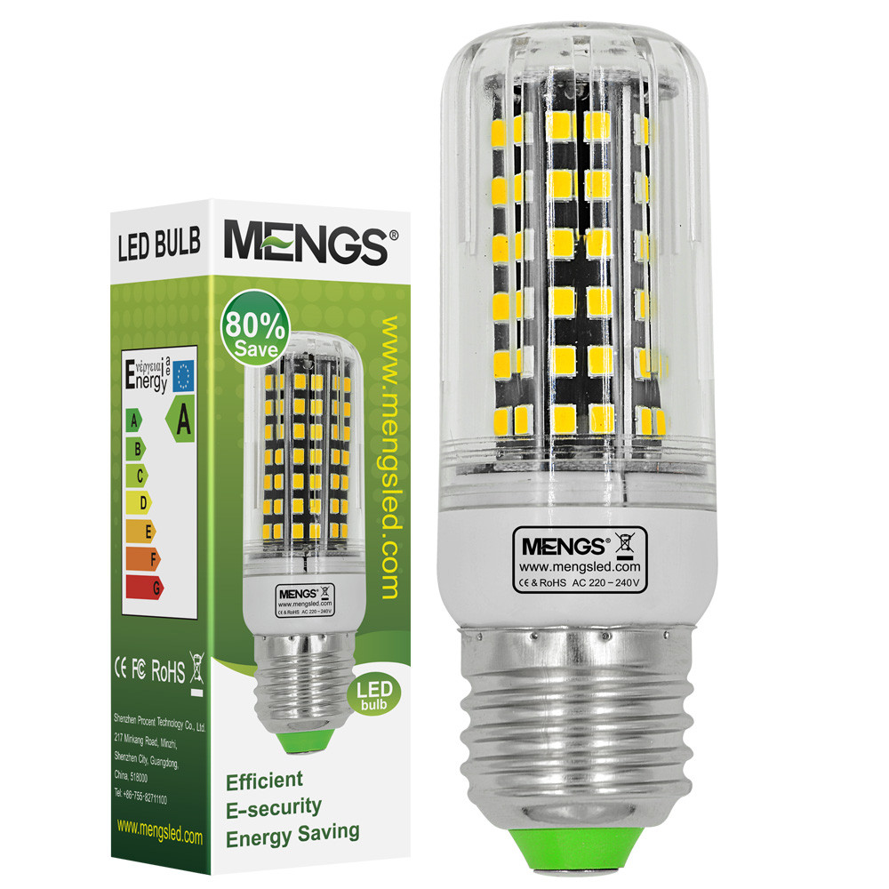 MENGS® E27 8W LED Corn Light 84x 2835 SMD LED Bulb Lamp With Aluminum Plate In Cool White Energy-Saving Light