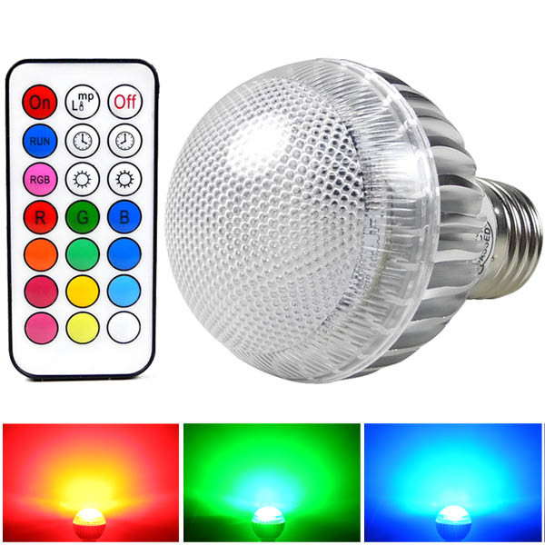 MENGS® E27 8W LED RGB Light 16 Colour changing SMD LEDs LED Globe lamp Bulb with IR Remote Control - multicolor Dimmable