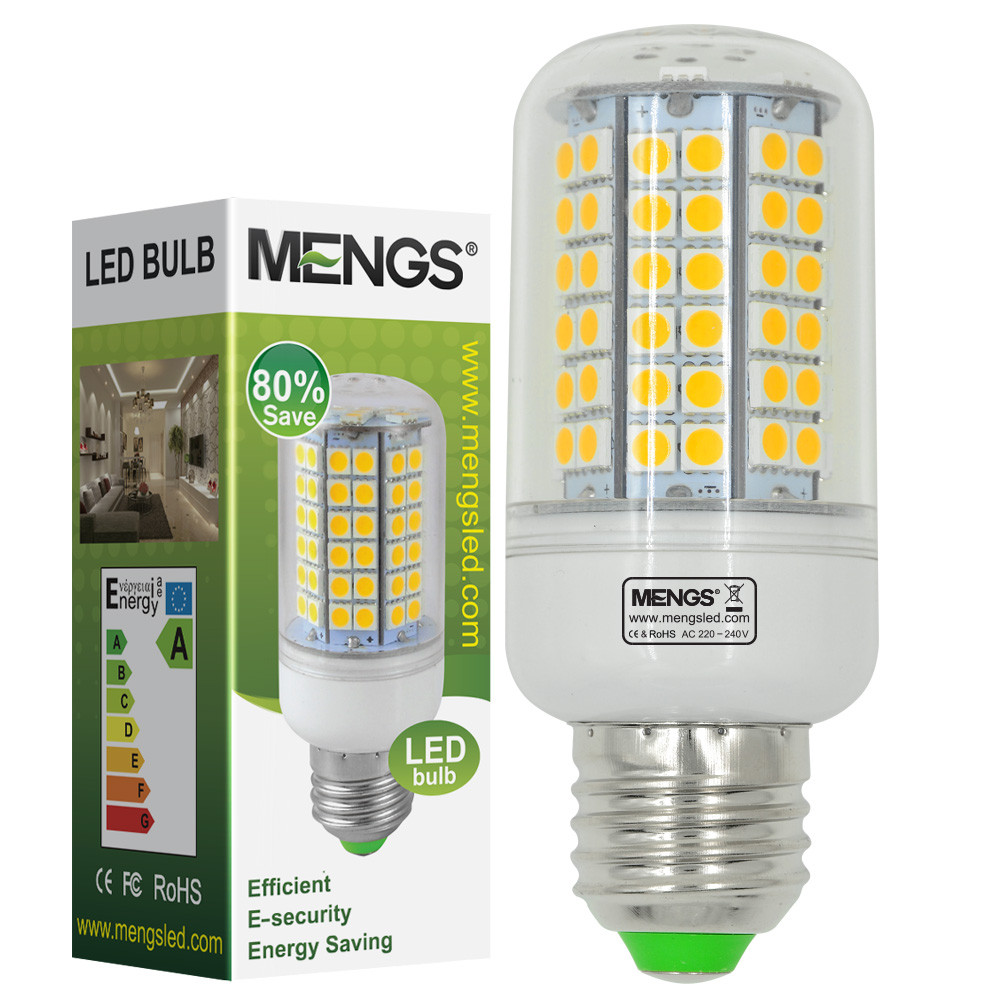 MENGS® E27 12W LED Corn Light 96x 5050 SMD LEDs LED Bulb Lamp in Warm White Energy-saving Lamp