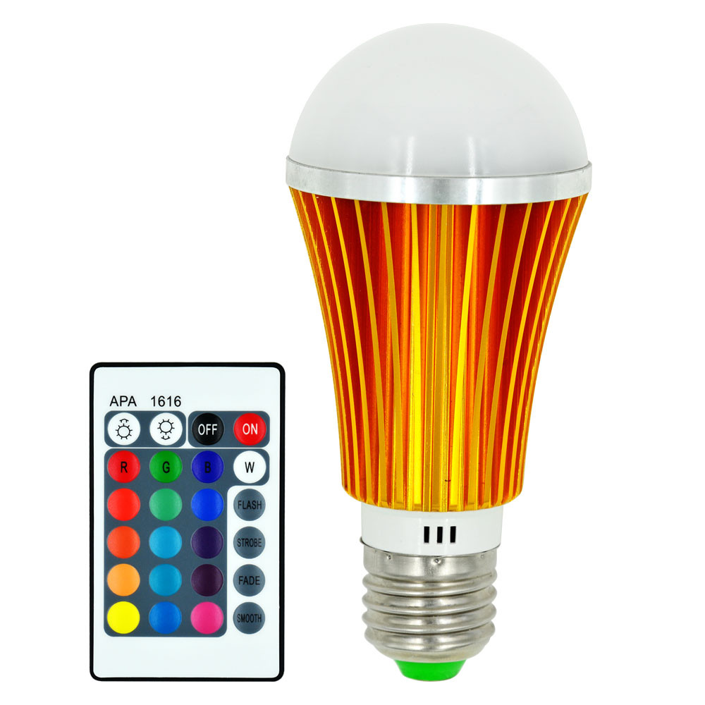MENGS® E27 7W LED RGB Light 16 Colour changing SMD LEDs LED Globe lamp Bulb with IR Remote Control - multicolor Dimmable